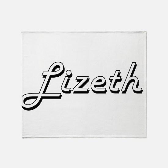 Lizeth Classic Retro Name Design Throw Blanket