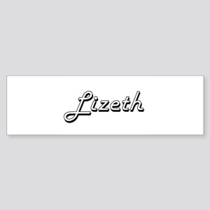 Lizeth Classic Retro Name Design Bumper Sticker