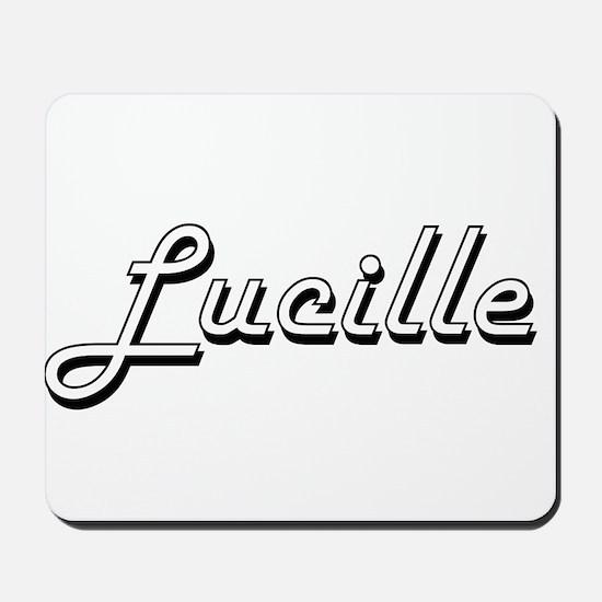Lucille Classic Retro Name Design Mousepad