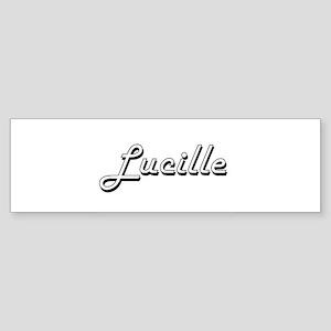 Lucille Classic Retro Name Design Bumper Sticker