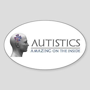 Autistics Amazing Head Sticker