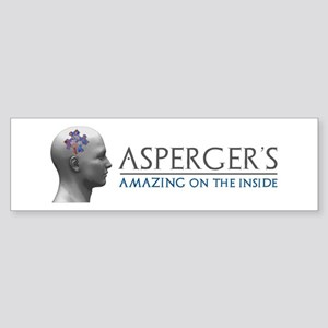 Asperger's Amazing Head Bumper Sticker