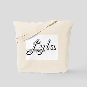 Lyla Classic Retro Name Design Tote Bag