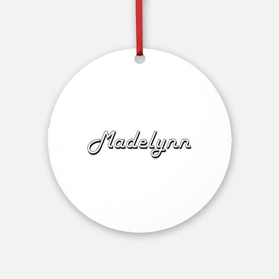 Madelynn Classic Retro Name Desig Ornament (Round)