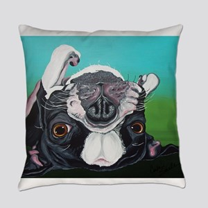 Boston Terrier Everyday Pillow