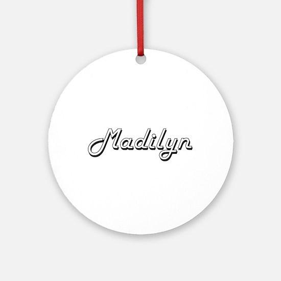 Madilyn Classic Retro Name Design Ornament (Round)