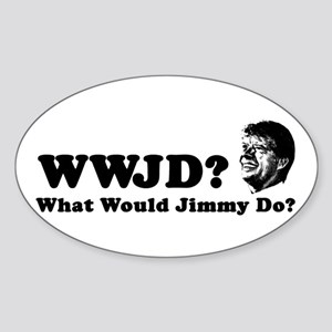 What Would Jimmy Do? Oval Sticker