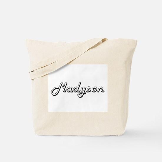 Madyson Classic Retro Name Design Tote Bag