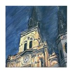 Cathedral At Night Tile Coaster