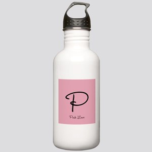 Cute Pink Monogram Stainless Water Bottle 1.0L