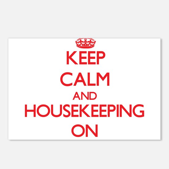 Keep Calm and Housekeepin Postcards (Package of 8)