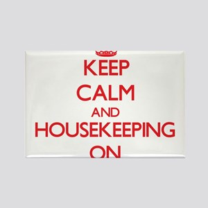 Keep Calm and Housekeeping ON Magnets