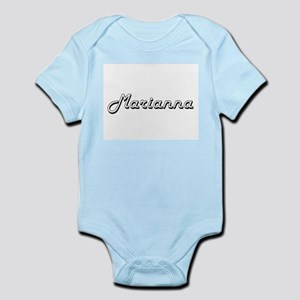 Marianna Classic Retro Name Design Body Suit