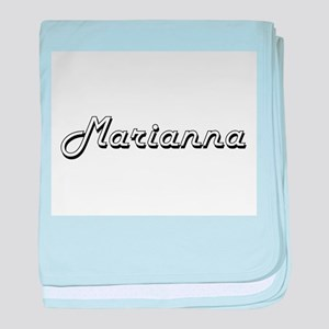 Marianna Classic Retro Name Design baby blanket