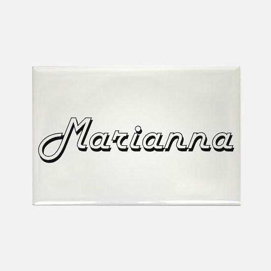 Marianna Classic Retro Name Design Magnets