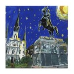 Starry Night Jackson Square Tile Coaster
