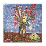 Louisiana Gladiolas Art Tile Coaster
