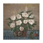 Louisiana Magnolias in Crock Art Tile Coaster