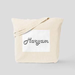 Maryam Classic Retro Name Design Tote Bag