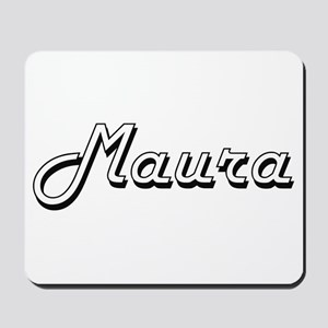 Maura Classic Retro Name Design Mousepad