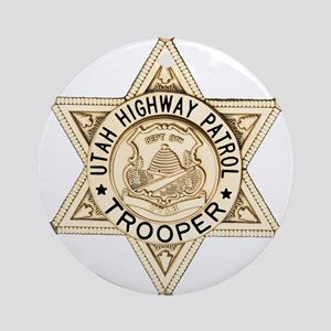 Utah Highway Patrol Ornament (Round)