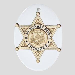 Utah Highway Patrol Ornament (Oval)
