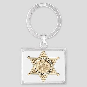 Utah Highway Patrol Landscape Keychain
