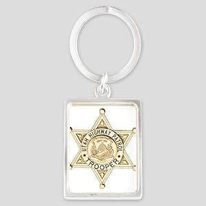 Utah Highway Patrol Portrait Keychain