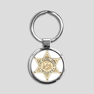Utah Highway Patrol Round Keychain