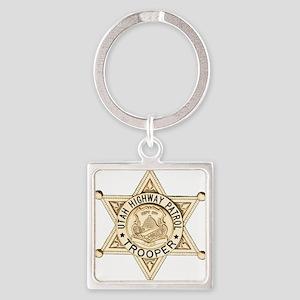 Utah Highway Patrol Square Keychain