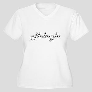 Mckayla Classic Retro Name Desig Plus Size T-Shirt