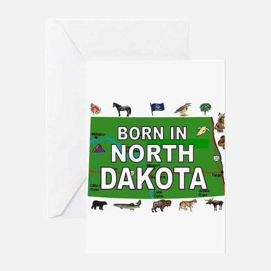 NORTH DAKOTA BORN Greeting Cards
