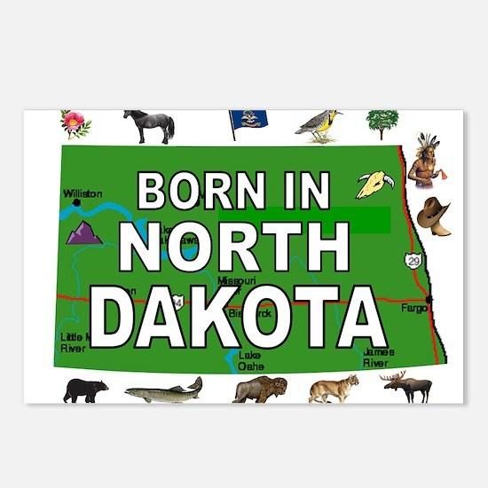 NORTH DAKOTA BORN Postcards (Package of 8)