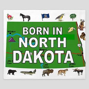 NORTH DAKOTA BORN King Duvet