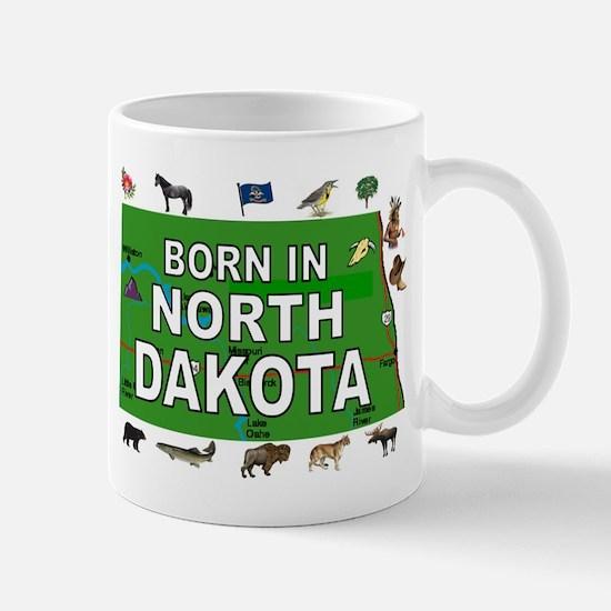 NORTH DAKOTA BORN Mugs
