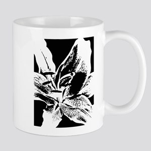 Black And White Lily Mugs
