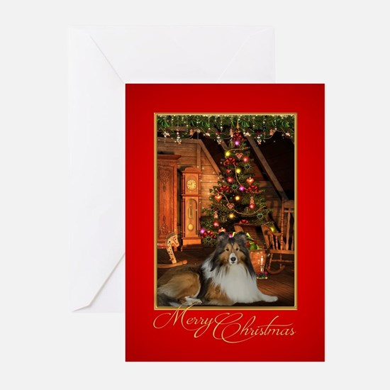 Sheltie Christmas Greeting Cards