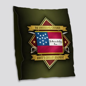 1st Louisiana Cavalry Burlap Throw Pillow