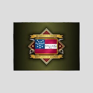 1st Louisiana Cavalry 5'x7'Area Rug