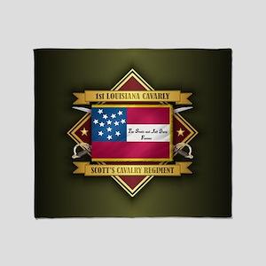 1st Louisiana Cavalry Throw Blanket
