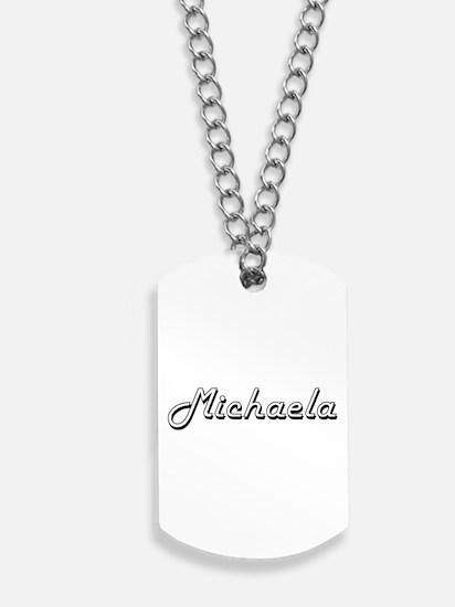Michaela Classic Retro Name Design Dog Tags