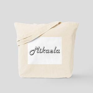 Mikaela Classic Retro Name Design Tote Bag