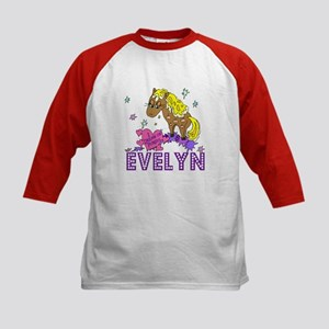 I Dream Of Ponies Evelyn Kids Baseball Jersey
