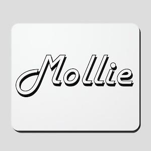 Mollie Classic Retro Name Design Mousepad