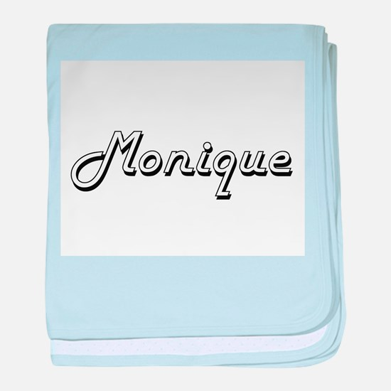 Monique Classic Retro Name Design baby blanket