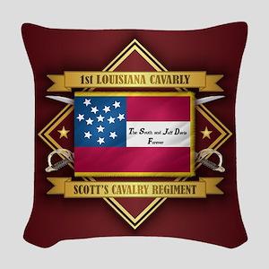 1st Louisiana Cavalry Woven Throw Pillow