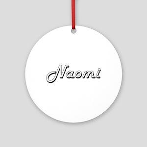 Naomi Classic Retro Name Design Ornament (Round)