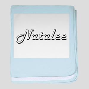 Natalee Classic Retro Name Design baby blanket