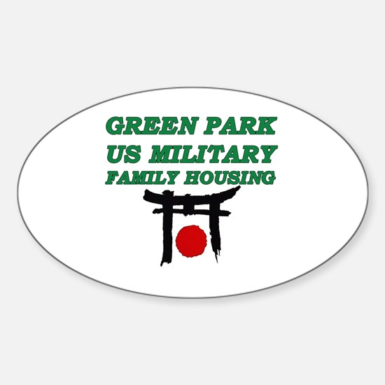 Green Park Japan Sticker (Oval)