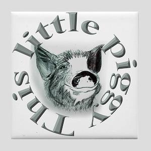 """Plain """"This Little Piggy"""" Tile Coaster"""